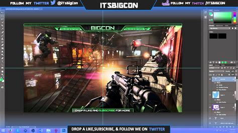 FREE Twitch Stream Overlay Template!!!(PSD File) - YouTube