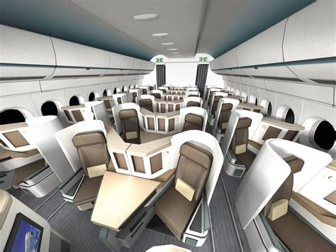 Airbus A350 900 with interior
