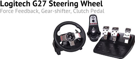 The Logitech G27 steering wheel (for PlayStation and PC)