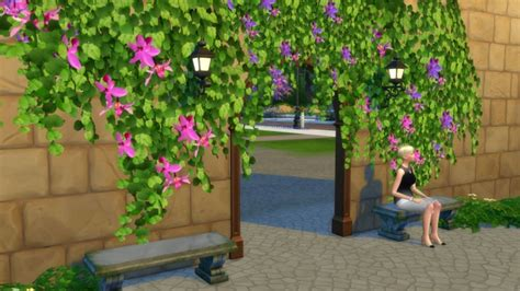 Tropical Vines in Bloom by Snowhaze at Mod The Sims » Sims