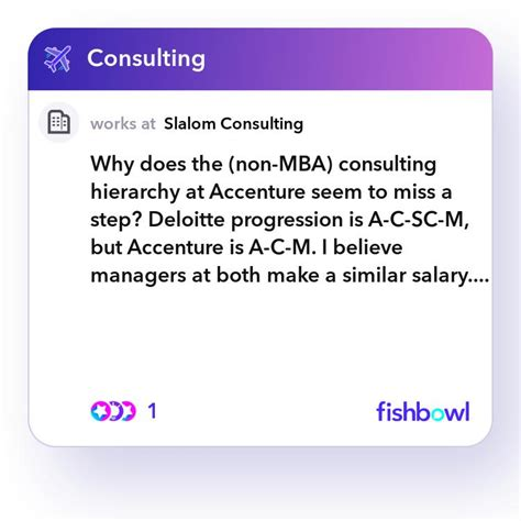 Why does the (non-MBA) consulting hierarchy at Accenture