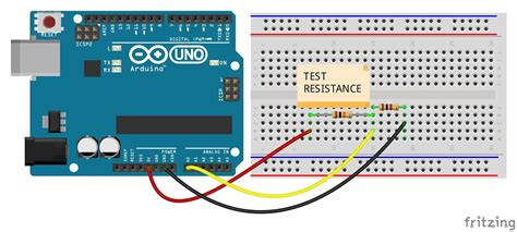 Ohm meter using arduino - LCD and serial display