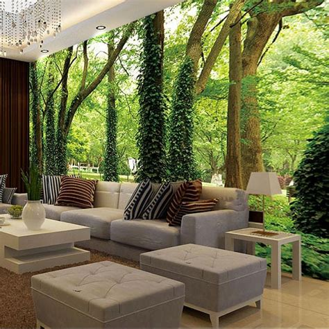 Free shipping 3D three dimensional mural of living room