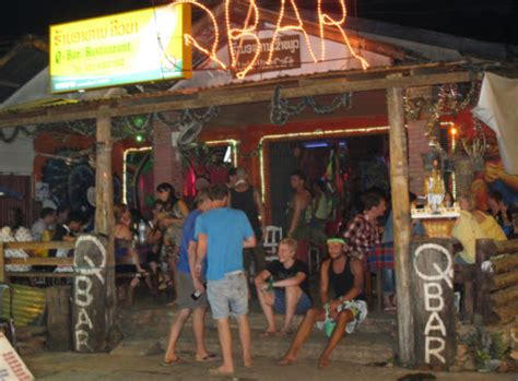 The Q bar in Vang Vieng after tubing - Bars Guide