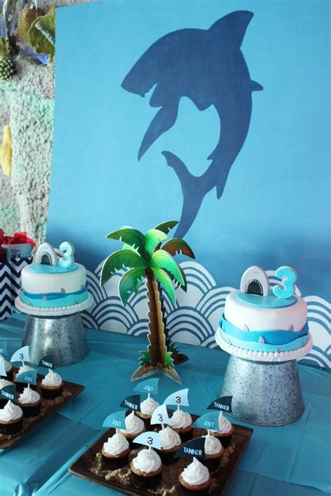A Fin-tastic Boys' Shark Party - Spaceships and Laser Beams