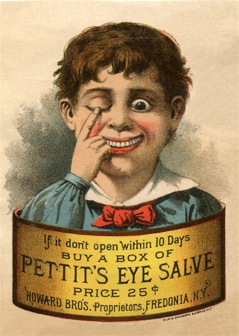 Quirky Vintage Eye Salve Image - Odd! - The Graphics Fairy
