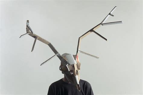 Jozef Mrva Creates Spooky Shamanic Masks with Recycled
