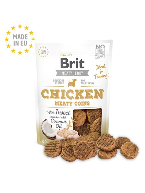 Brit Jerky Snack–Meaty coins with Insect – Brit