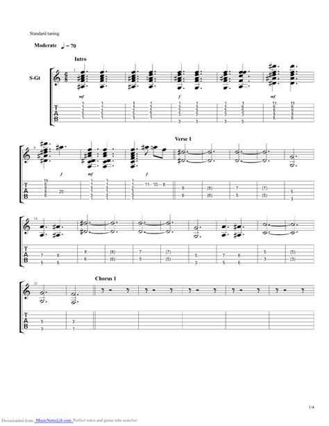 A Thousand Years guitar pro tab by Christina Perri