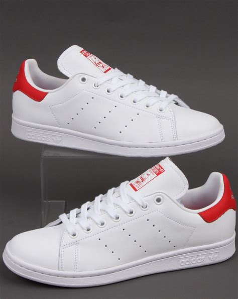 Adidas Stan Smith Trainers White/Red - Adidas At 80s