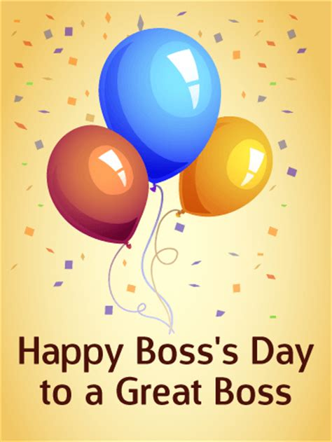 Happy Boss's Day Card | Birthday & Greeting Cards by Davia