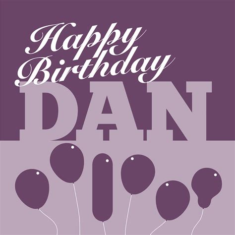 Unique, personalised birthday card for Dan - Nameslink Cards