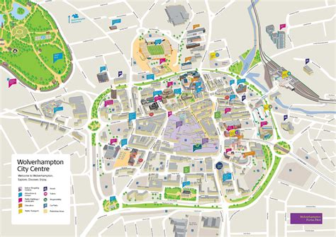 Large Wolverhampton Maps for Free Download and Print