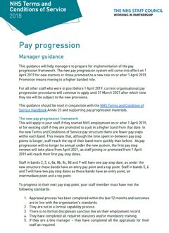 Pay progression manager guidance and checklist - NHS Employers