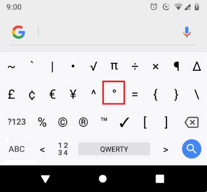 How To Type The Degree Symbol And Other Typographical
