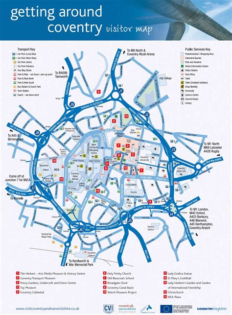 Large Coventry Maps for Free Download and Print | High