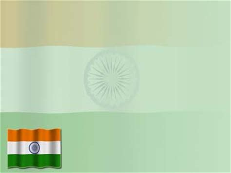 India Flag 01 PowerPoint Template