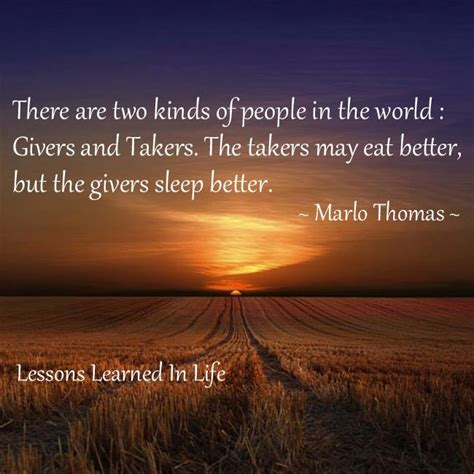 Lessons Learned in LifeGivers and Takers - Lessons Learned