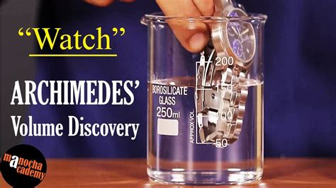 Archimedes Eureka : Measuring Volume by Displacement