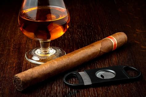 Great tasting whiskey is complemented by flavorful stogies