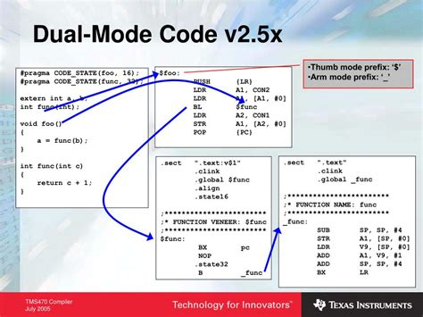 PPT - TMS470 Compiler Overview PowerPoint Presentation