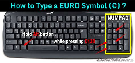How to Type Euro € Symbol in Computer? - Computers, Tricks