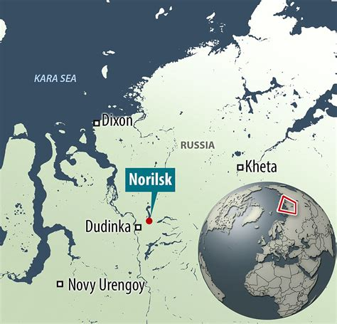 Norilsk in Russia's Siberia is the coldest city in the