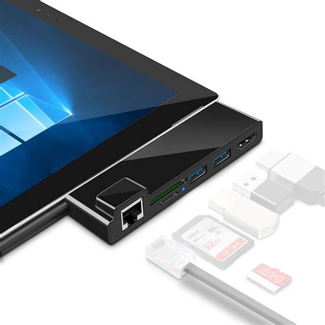 Surface pro 4 USB Hub Dock with 4K HDMI Converter Adapter