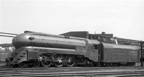 """B&O's """"Royal Blue"""" 4-6-2 Pacific Streamlined in 1941, Otto"""