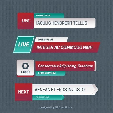 Modern lower thirds with text Vector   Free Download