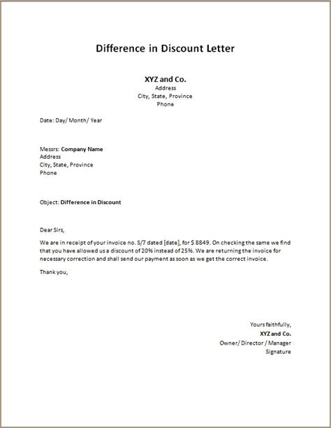 Invoice and Statement Letters | Word Excel Templates