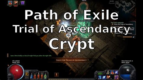 Path of Exile Trial of Ascendancy Crypt - YouTube